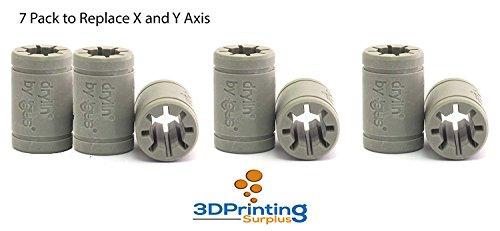 3D Printer Solid Polymer LM8UU Bearing 8mm shaft - Igus Drylin RJ4JP-01-08 for Anet A8 Prusa i3 3D Printer RepRap