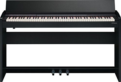 Roland Compact 88-key Digital Piano with Built-In Speaker, contemporary black (F-140R-CB)