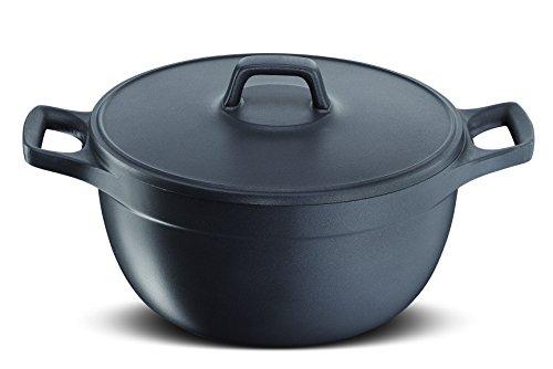 Lagostina Cooking Fusion Casseruola Fonda, 2 Maniglie con Coperchio, Ø 24 cm