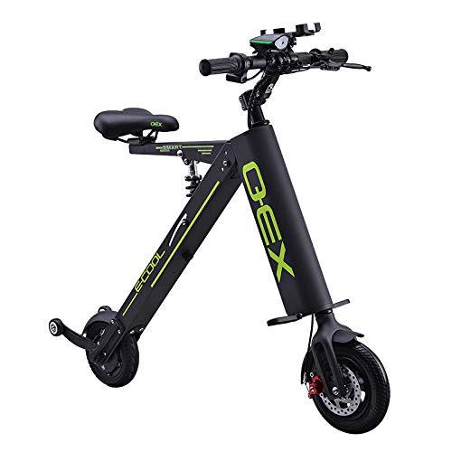 Mini Coche Eléctrico Plegable Batería De Litio para Adultos Bicicleta De Dos Ruedas Portátil Batería De Viaje Coche Iluminación LED Black