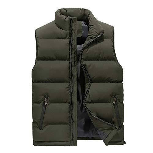 Chaleco de invierno casual sin mangas para hombre, chaleco resistente al viento, cálido, abrigos informales