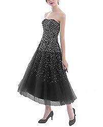 Royalbue Short Dress with Rhinestones