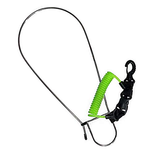 Rogue Endeavor Standard, Stainless Steel Game Clip Fish Stringer System + Stainless Core Coiled Lanyard. Designed for Kayak Fishing & Spearfishing. Freshwater Fish Species (Yellow)
