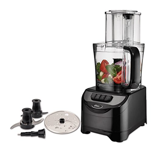 Oster 10-Cup Food Processor with Dough Blade, Black