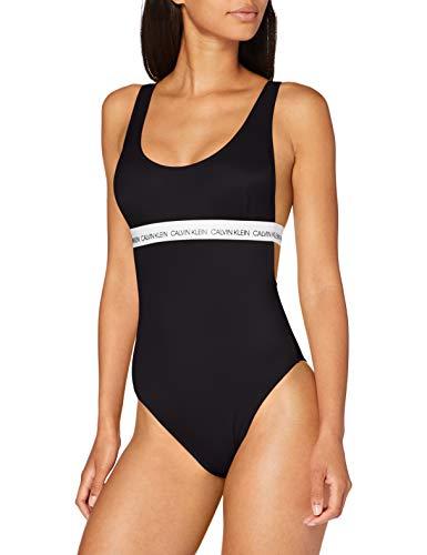 Calvin Klein Damen Open Back One Piece-rp Zweiteiliger Schlafanzug, Schwarz (PVH Black BEH), Large
