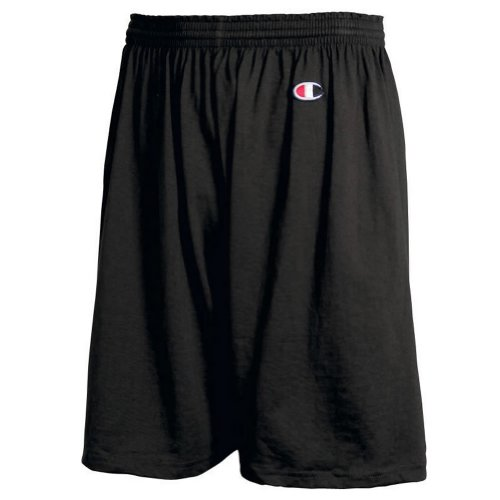Champion 6.3 oz Cotton Gym Shorts in Black - X-Large