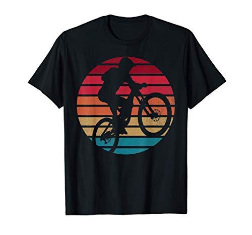 MTB Mountain Bike Bicicletta Sun Set da uomo Vintage Retro Maglietta