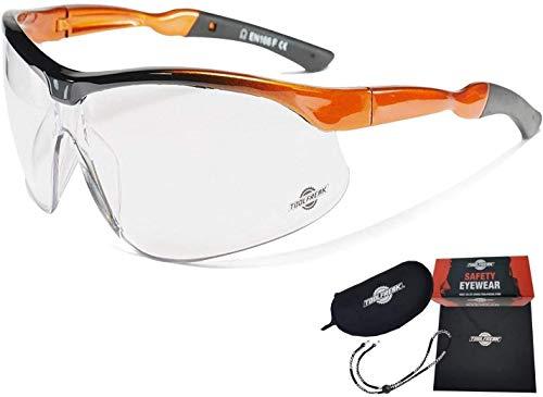 ToolFreak Agent Gafas de Seguridad para Trabajo y Deporte con Cristales Envolventes Transparentes