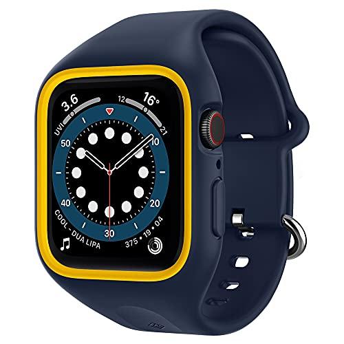 Caseology Nano Pop Compatible avec Apple Watch Coque avec Bracelet pour 40mm Series 6 (2020) Se (2020) 5 (2019) 4 (2018) - Blueberry Navy