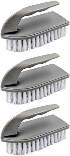 HJUK 3pk Kunststoff-Schrubbbürste Bodenreinigung Handwerkzeuge mit steifer Nylonborstenform