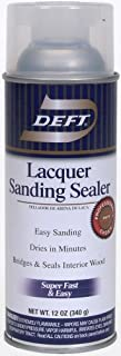 Deft 37125015138 Lacquer Sanding Sealer Spray, 12-Ounce