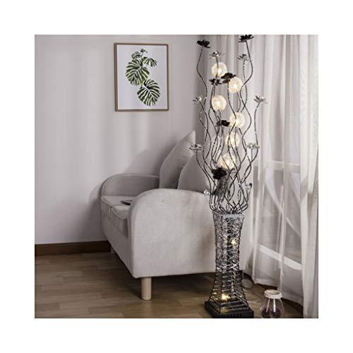 EIU vloerlamp, moderne creatieve woonkamer slaapkamer decoratieve staande lamp Personity Vaas LED-kristal vloerlamp Grootte: 150 x 50cm M20-03-05