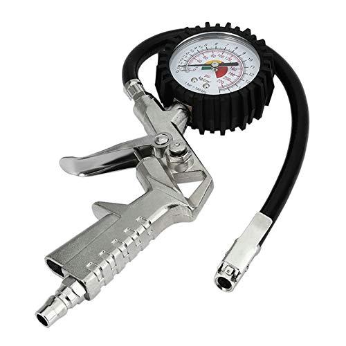 ffniwo KKKKKK Medidor de presión de neumáticos AUTOMÁTICOS para Motor DE Coche SUV Bombas de inflador Herramientas de reparación de neumáticos Tipo de Pistola de presión para compresor de Aire