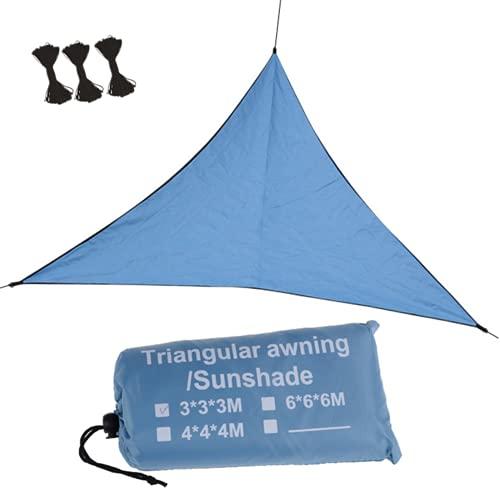 Toldo Vela de Sombra Triangular, Toldo de vela de jardín terraza,3 cuerdas, Impermeable, Bloque UV, Jardín al aire libre Patio Fiesta Patio trasero Refugios para acampar, 3*3*3/4*4*4/6*6*6m