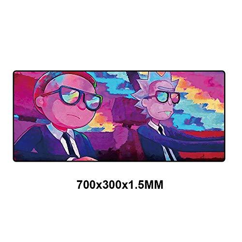 XXL Mauspad 900x400 Rick And Morty Anime Mousepad Benutzerdefinierte DIY Gaming Große Rastkante Geschwindigkeit Mousepad Gummi Computer Schreibtisch Mat-RKYMD-006-70x30