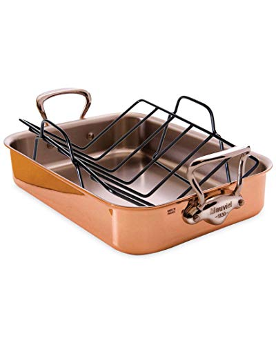 Mauviel M'héritage 150s Rectangular Roasting Pan with Rack