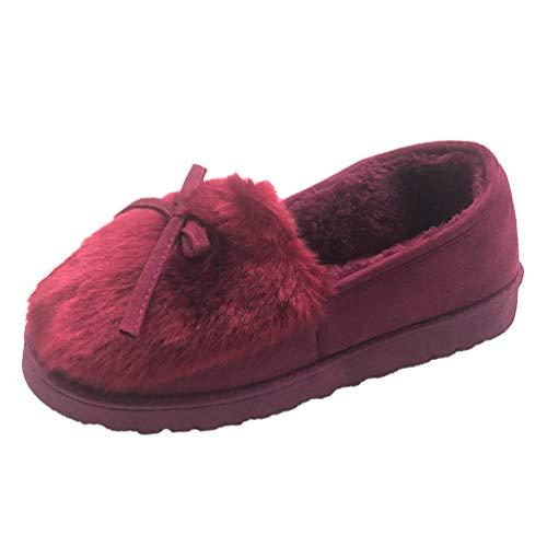 Frauen Hausschuhe Winter Warm Indoor Kurze Stiefeletten Flache Unterseite Home Baumwolle Schuhe Damen