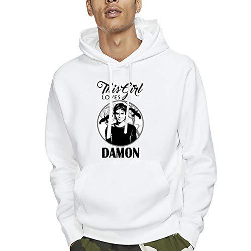 The Vampire Diaries Pullover Pullover Felpa Maglione Cappotti Uomo e Donne Casuale Trend Sport Wild Style Moda Autunno e Inverno Unisex (Color : White02, Size : Height-160cm(Tag S))