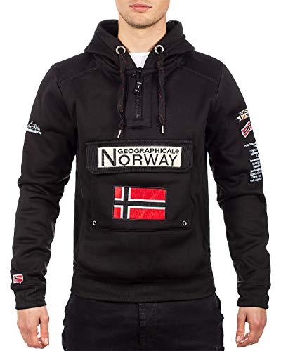 Geographical Norway Sudadera con capucha para hombre negro M