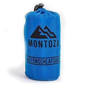 Montoza Drap de sac ultra léger, 170g, sac à viande en soie et coton, pour les voyages en refuges de montagne, le backpacking et les hôtels 8