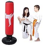 Sacco da Boxe da Terra 160 cm Sacco da Boxe per praticare Karate del Sacchetto di Pugilato di...