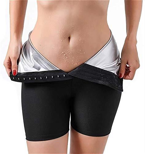 SKYWPOJU 2 en 1 Pantalones de Pérdida de Peso Pantalones de Neopreno Pantalones de Sauna para Mujeres Leggings Deportivos de Yoga Cintura Alta para Entrenamiento Pérdida de Peso Sudor Quemar Grasa