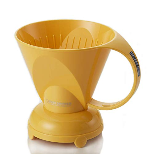 NEW Clever Yellow Coffee Dripper Coffee Maker Safe BPA Free Plastic Hassle-Free Ways Make Manual Pour Over Coffee & Cold Brew, 18 Fl Oz.