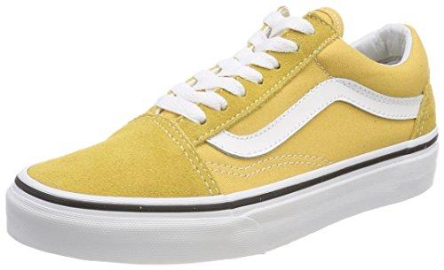 Vans Old Skool, Zapatillas de Entrenamiento Unisex Adulto, Amarillo (Ochre/True White Qa0), 44.5 EU
