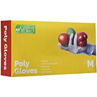 500-Pieces Green Direct Plastic Disposable Gloves (Medium)