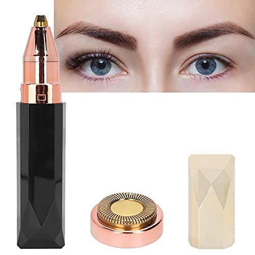 Recortador de cejas, recortador de cejas eléctrico 2 en 1, maquinilla de afeitar con batería, depiladora facial para mujeres, afeitadora para cara, labios, nariz