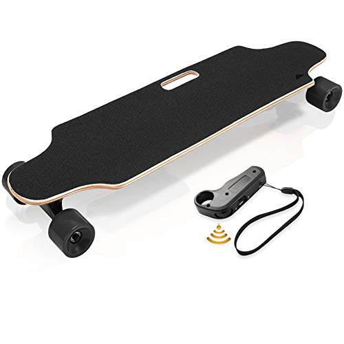 Hicient Electric Skateboard with Wireless Remote Skateboard for Adults and Youths (Green)