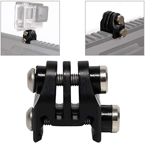 Picatinny Schienen Airsoft Gun Rail Mounts oder Helm Bagger Mounts Bracket Adapter für GoPro Action (Black)