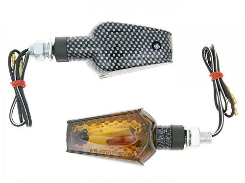 Preisvergleich Produktbild Blinker Set M10 Carbon-Look Beamer getönt,  kurz