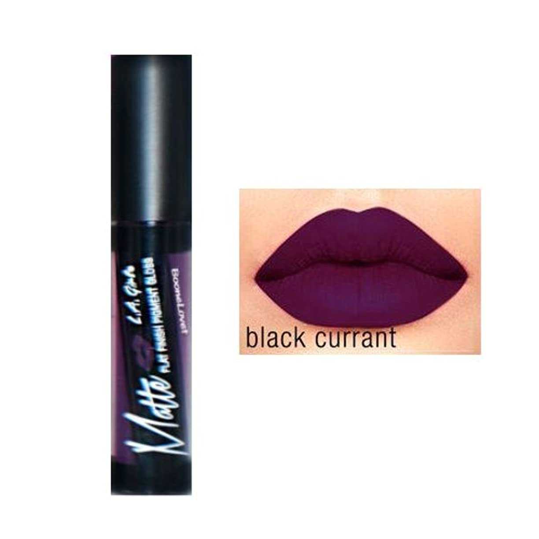 順応性のある羽コットンL.A. GIRL Matte Pigment Gloss - Black Current (並行輸入品)