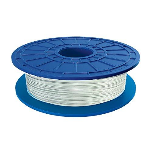 Dremel PLA 3D Printer Filament, 1.75 mm Diameter, 0.5 kg Spool Weight, White Translucent