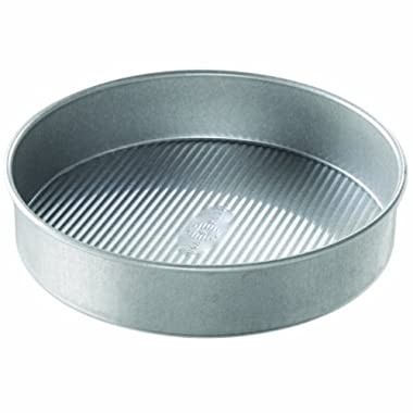USA Pan Bakeware Aluminized Steel 10 x 2 Inch Round Cake Pan, Made in the USA