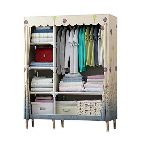 Lipenli Simple Wardrobe Armarios de tela plegable Armario Percha Montaje del bastidor Tela ropero almacenamiento de ropa Armario