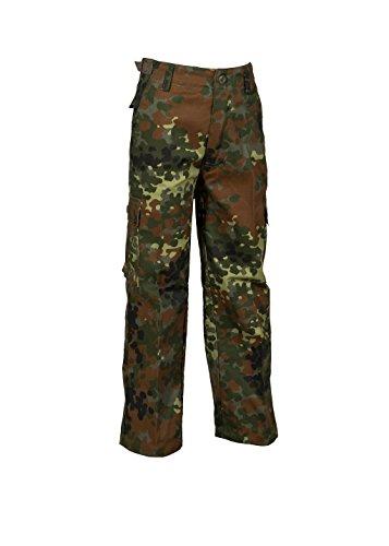 Robuste + Komfortable US Style Kinder Jungen Mädchen Rangerhose Freizeithose Kampfhose viele S-XXXL (L (146/152), Flecktarn)