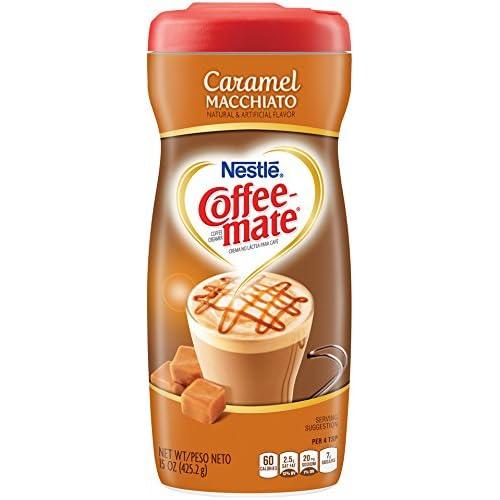 Nestle Coffee-Mate Coffee Creamer Caramel Macchiato, Pack of 6 (15 Ounce)