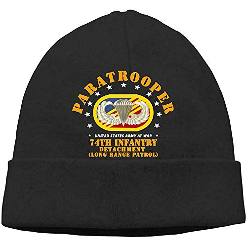 LinUpdate-Store HU74th Inf Det Oval WER Paratrooper Beanies muts Skull Cap Adults Hat