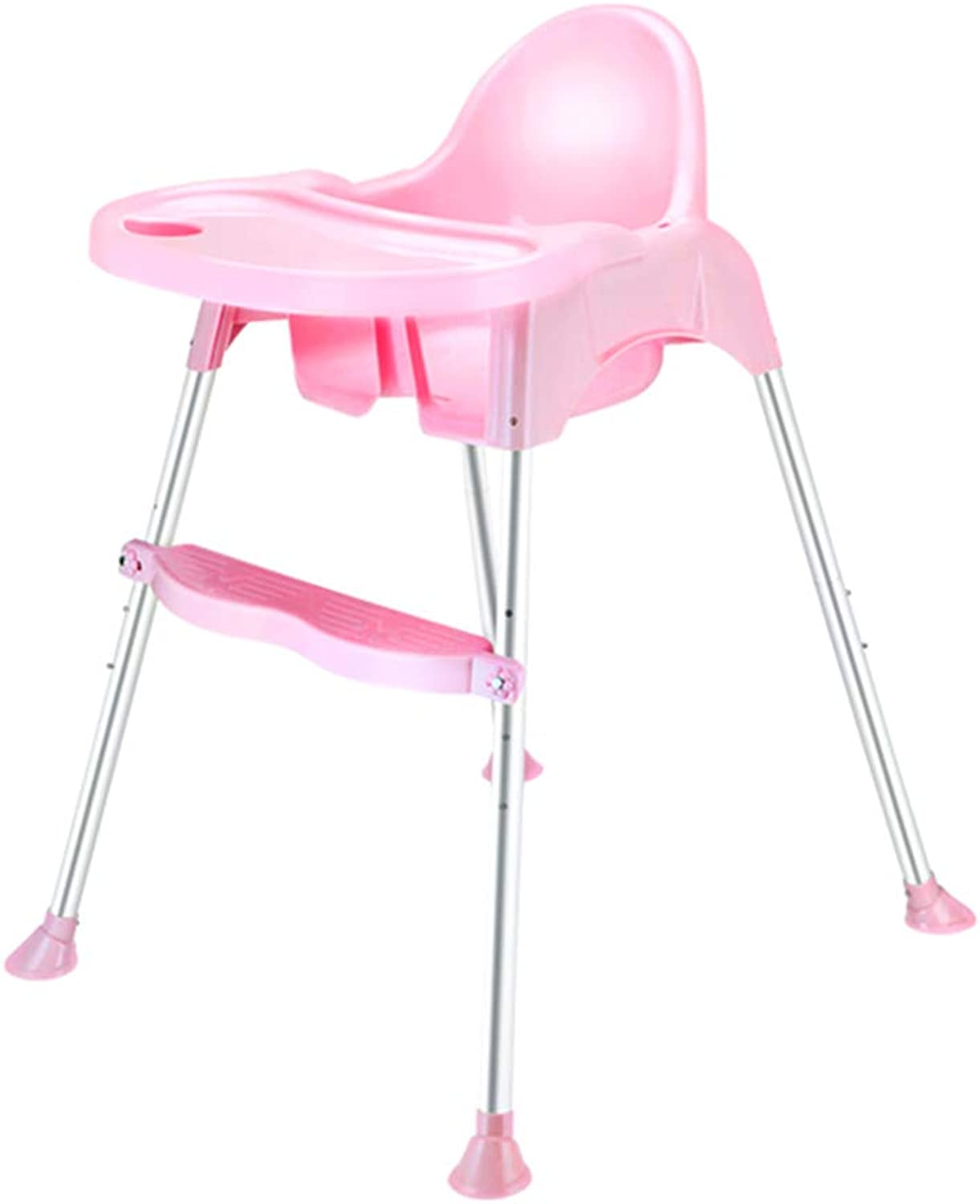 ZHAOYONGLI Baby Highchairs Dining Table Chairs Portable Coco Foldable Multi-Function Mini Seat Creative Solid Durable Long Lasting (color   Pink, Size   Short feet)
