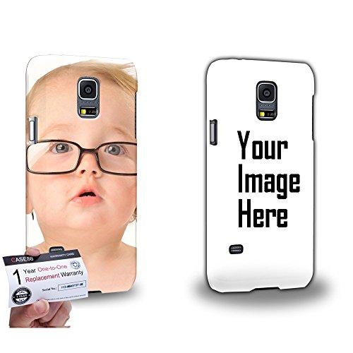 CASE88 Personalisierte Fotohülle für Samsung Galaxy S5 Mini * Foto deckt Kanten * Cover selbst gestalten mit eigenem Foto