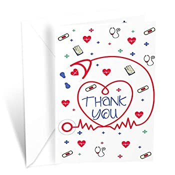 Prime Greetings Thank You Card For Healthcare Nurse Doctor