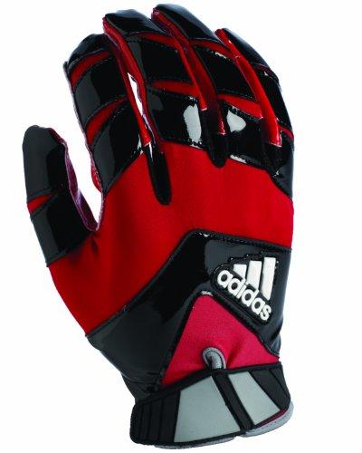adidas Crazy Quick Football Receiver Gloves, Medium, Black/Red