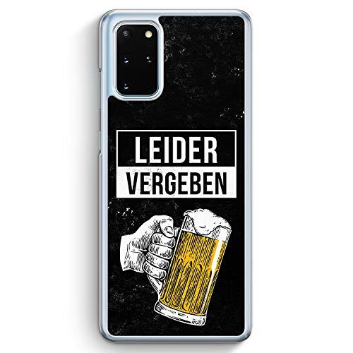 Leider Vergeben Bier - Hülle für Samsung Galaxy S20+ Plus - Motiv Design Cool Witzig Lustig Spruch Zitat Jungs Männer Herren - Cover Hardcase Handyhülle Schutzhülle Hülle Schale