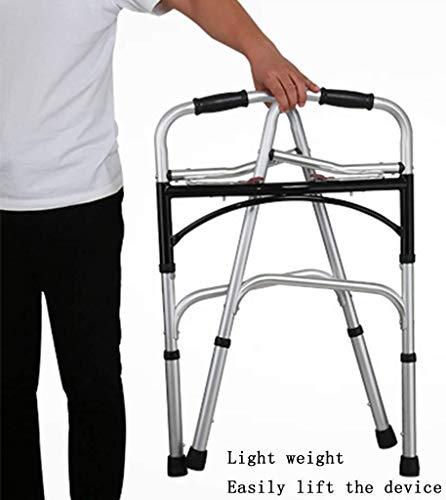 Ouderen walker Lichtgewicht Travel Walker, Fold Walkering Aids met Seat, Ultra Mobility Aid Vier Wielen, Drive Medical Rollator Rollator hoogte verstelbaar Gratis Installatie revalidatie walker