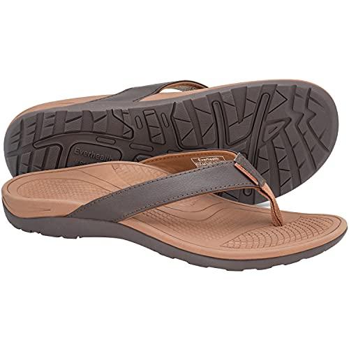 Men's Sandals Orthotic Arch Support Flip Flops for Plantar Fasciitis, Flat Feet, Heel...
