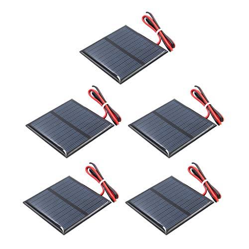 LOVIVER 5x Mini Solarpanel Kleine Polykristalline Solarzelle Solar Panel Modul 5,5V