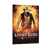 AIPINGLLI Lucky Luke Comic-Poster, dekoratives Gemälde,