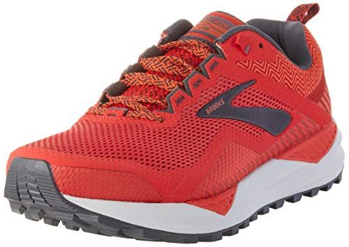 Brooks Cascadia 14, Scarpe da Corsa Uomo, Red/Ebony/Grey, 43 EU
